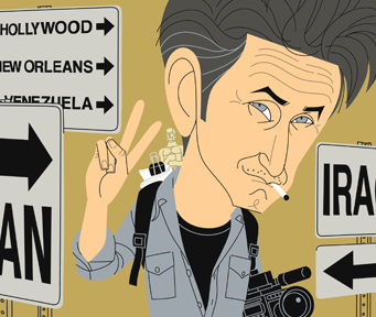Sean Penn Caricature Trenholm